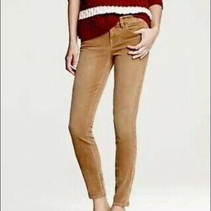 J. Crew City Fit Camel Skinny Leg Corduroy Pants